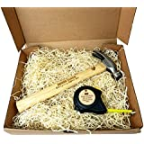 Personalised Engraved Fathers Day Hammer & Tape Measure in Gift Box Set