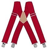 McGuire-Nicholas 110C 5cm large bretelles rouge de Mcguire Nicholas