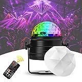 Discokugel Kinder Nakalus LED Discolicht Musikgesteuert Disco Lichteffekte RGB Partylicht, Zeitgesteuertes Stimmungslicht mit 7 Farben, 4 Helligkeiten und Fernbedienung für Kinder, Zimmer, Party