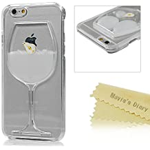 Mavis's Diary Coque iPhone 6/6S Coque PC Rigide Dure Créatif Jus de Poire Coque PC Bords Transparents Phone Case Cover Coque de Protection avec Chiffron Nettoyeuse