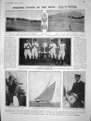 Conquistador Indio Del Trébol De 1908 Del Polo Golf Lipton De Taylor