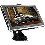 "Discoball 7"" Inch Touch Screen Car GPS Navigation SAT NAV UK EU Maps FM POI SpeedCam MP3 MP4 TF Card Supported Function 8GB 128MB"