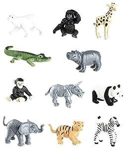 Plastoy - 6800-04 - Figurine - Animal - Tubo Figurine - Animal Sauvages Bebes