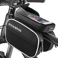 Bolsa Bicicleta Cuadro, BTNEEU Bolsa Movil Bicicleta Toque de alta Sensibilidad, Bolsa Bici Impermeable, para iPhone Teléfono Samsung Nexus Phone hasta 6.2 Pulgadas, Accesorios para Bicicletas (Negro)