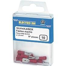 Electrodh - Terminal Faston Macho 6,3 Caja 10 Pz. Azul 10914/6,3/Z/Box U