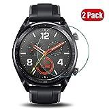 Voviqi Huawei Watch GT Panzerglas, 9H verbesserte gehärtetes Glas Folie [Blasenfrei] [Anti-Fingerabdruck] Bildschirmschutzfolie für Huawei Watch GT, 2 Stück