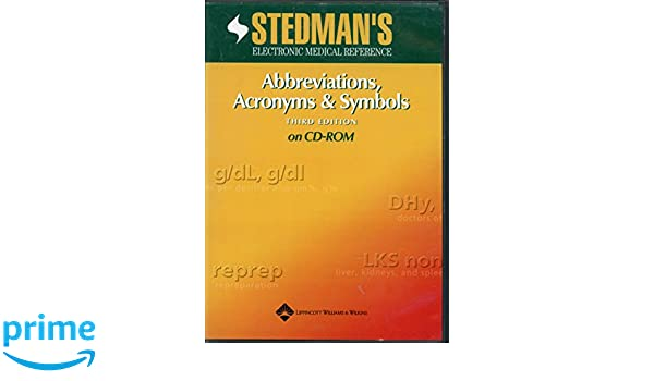 Buy Stedman's Abbreviations, Acronyms and Symbols Book