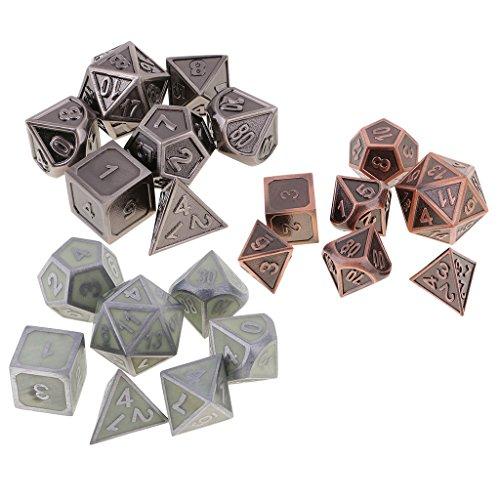 Sharplace 21 Stück Glow In The Dark Würfel Set D4-D20 für Party Spiel