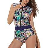 HucodeVan Femme Monokini de Sport Nautiques Rembourré Amincissant Slim Maillot de...
