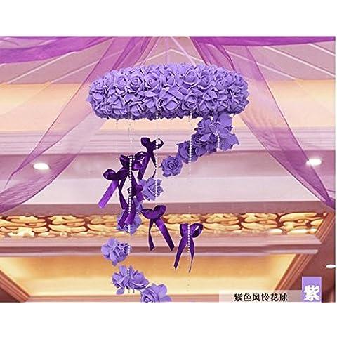 Creative Nozze Nozze camera è ben arredata ghirlanda di fiori matrimonio a sfera matrimonio decorazione floreale tirare il pacchetto soggiorno tappezzerie, viola scacciapensieri Bouquet
