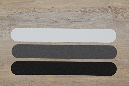 Kara Anti-Slip Strips 60 cm x 3 cm Grey Stair Mats
