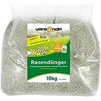 Fertilizante de césped a partir de tan solo 1,29 €/kg – marca versando – 10 kg para aprox. 300 m² de césped verde – sin musgo o malas hierbas, abono NPK con efecto inmediato