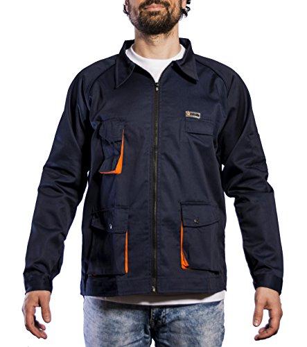 Avant Caz, Chaqueta de Trabajo para Hombre, Multicolor(Marino/Naranja), X-Large (Tamaño del fabricante:XL)
