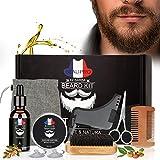 Bartpflege Set Geschenkset für Männer Bart Styling, 9 in 1 Bartpflegeset inkl. Bartkamm Bartbürste Bartöl Bartbalsam Bartschürze Bartschere Styling Werkzeug usw. Bart Set für Anfänger Fortgeschrittene