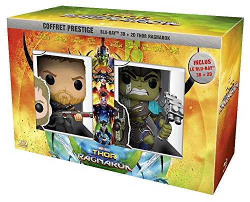Thor : Ragnarok [Coffret Prestige - Blu-ray 3D + Blu-ray 2D + Figurines - Exclusivité Amazon]
