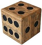 LioLiving, Hocker Cube aus Echtem Teakholz (40 x 40 x 40 cm) (#400155)