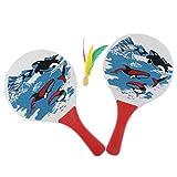 MagiDeal 2pcs Beachballschläger Schläger mit 2pcs Bälle und 1pcs Federball für Strand Spiel Ballsport Sport