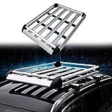 Homgrace 110 cm de toit universel pour voiture en aluminium, barres de toit de...