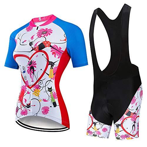 YDJGY Radfahren Kleidung Frauen 2019 Radfahren Jersey Set Triathlon Anzug Maillot Mtb Fahrrad Kit TräGerhose Gel Pad Bike Kleidung Kleid
