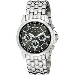 Invicta 2877 40.8mm Silver Steel Bracelet & Case flame fusion Women's Watch
