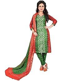 MEGHALYA Women's Satin Cotton Dress Material (3D Satin Cotton Dress-4027)