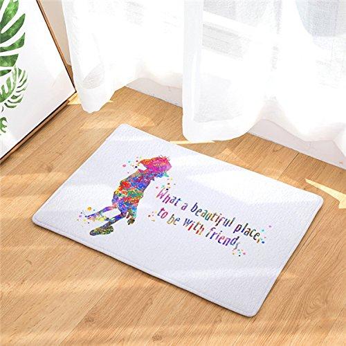 Homing Watercolor Harry Potter and Dobby Rectangular Mats Entrance Doormats Washable Kitchen Floor Bathroom 40x60cm 23.6x15.7 Inch