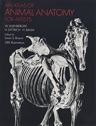 An Atlas of Animal Anatomy for Artists (Dover Anatomy for Artists) por W. Ellenberger