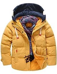 Chaqueta De Plumas Ligeras Con Capucha Niños Para Invierno Abrigo Acolchado Coat