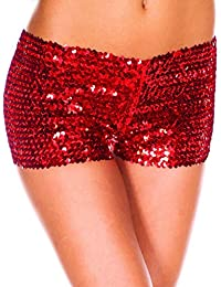 e311455f6df4 YiZYiF Damen Pailletten Shorts Elastische Shorty Reizvolle Glitzer Party  Tanz Kurz Hosen Club Tanz Kostüm