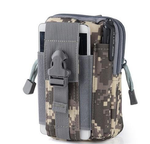 yaruijia Outdoor Tactical Waist Pack Tasche MOLLE EDC Camping Wandern Tasche Geldbörse Handy Fall ACU