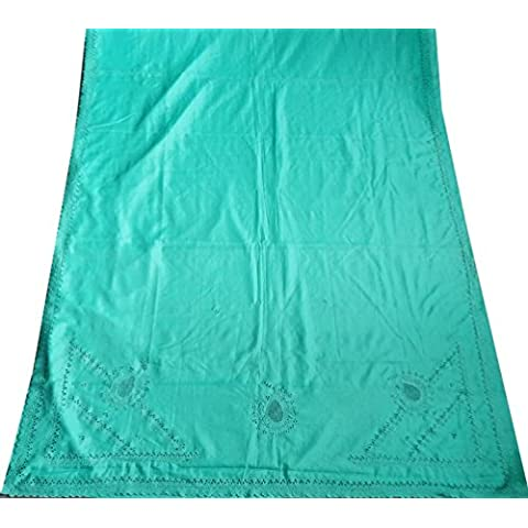 annata sari usato mestiere indiano decorazioni per la casa tenda stampata arte seta drappo saree donne tessuto riciclato Abito a portafoglio artigianale 5YD Il materiale - Arte Seta Tende