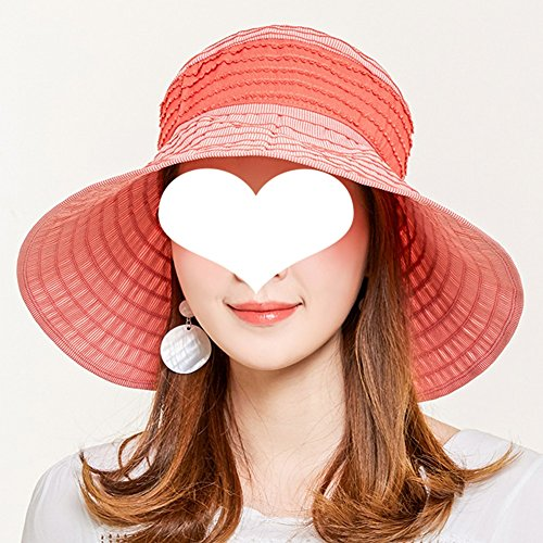Sonnenhut-Sonnenbrille Sonnenhut-weiblicher Koreanischer Sommer-Sonnen-Maske Spielraum-wildes UVfreies Rollendes Bequemes Tragen Art- Und Weiseschatten ZHAOYONGLI (Farbe : Orange, größe : M)