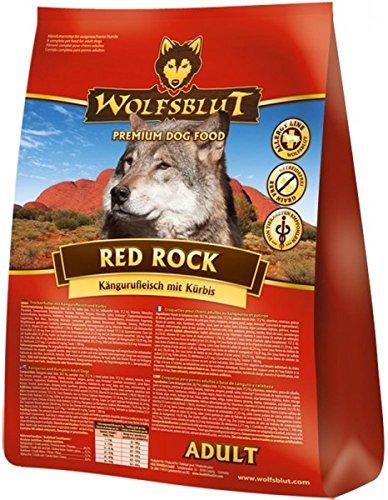 WOLFSBLUT Trockenfutter RED ROCK Känguru + Kürbis für Hunde. Adult 15,0 kg