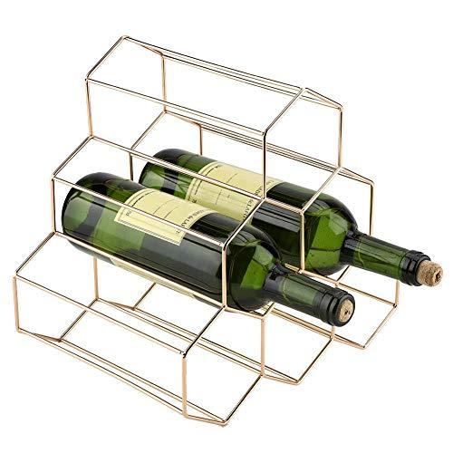 GOTOTOP Moderne Metall Weinregal Flaschenregal Weinständer für Für Zuhause Bar verwenden, Golden...