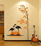 #3: Wall Sticker two swan (Wall Covering Area 91 cm x 58 cm)