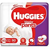 Huggies Wonder Pants, Extra Small (XS) Size Diapers, 90 Count
