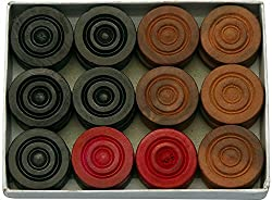 Champion Wood Carrom Coins (Pack of 24)