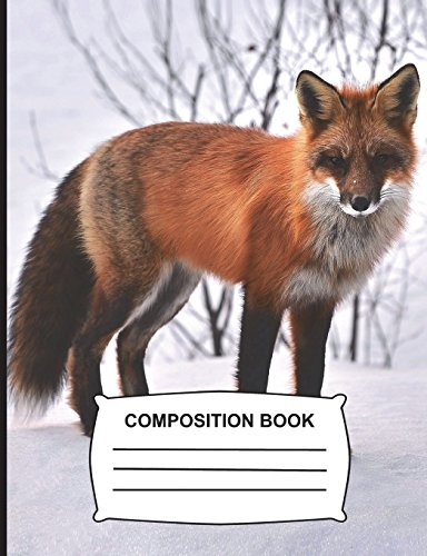 Composition Book: Graph Paper 5x5 Fox Notebook gift for school, Journal for girls, boys, kids, students & teachers 108 pg. (7.44 x 9.69)