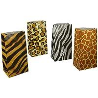 Fun Express 12 Zoo Animal Print Goody Bags