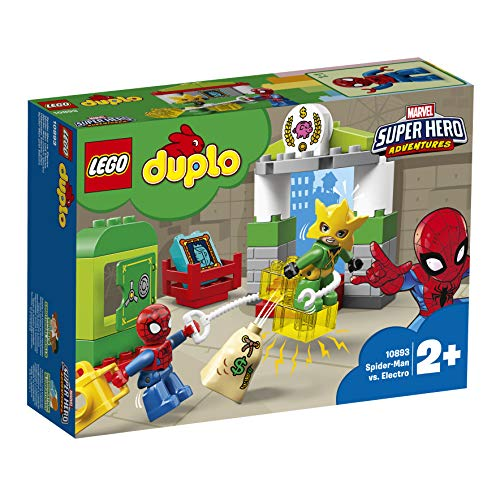 LEGO DUPLO 10893 Marvel Super Hero Adventures Spider-Man vs Electro Building Set, Fun Construction Toy for Kids Best Price and Cheapest