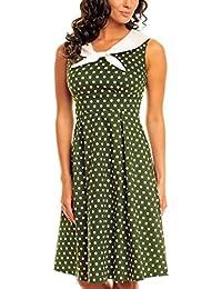 My Evening Dress Robe Vintage Marin Rockabilly des Années 50 pour fête et bal
