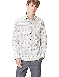 FIND Men's Shirt in Tailored Fit with Floral Print