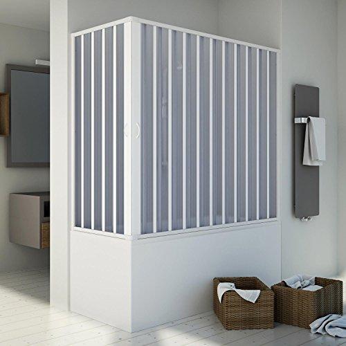 Badewannenaufsatz Duschkabine in PVC 160x70 CM H150 mod. Santorini Zentral