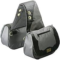TrailMax Sun River Collection Pferde Satteltasche, Packtasche, grau-schwarz