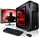 """Megaport Gaming-PC Komplett-PC Intel Core i7-7700 • 24"""" Bildschirm + Tastatur + Maus • GeForce GTX1070 8GB • 16GB DDR4 • 250GB SSD • Windows 10 • 1TB • WLAN gamer pc computer gaming pc komplettsystem"""