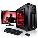 Megaport Gaming-PC Komplett-PC Intel Core i7-7700 4x 3.60GHz • 24' Bildschirm + Tastatur + Maus...