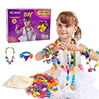 Vapewaves DIY Jewelry Kit Fashion Fun for Necklace Ring Bracelet Art Crafts Toys for 3+ Year Old Kids Girls (180 Pcs)