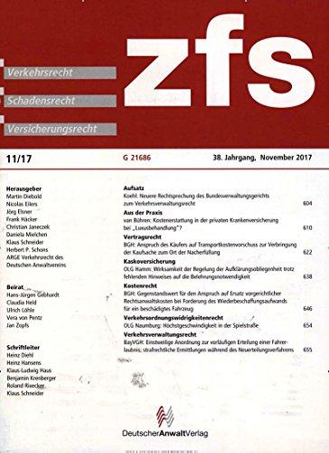 zfs - Zeitschrift für Schadensrecht [Jahresabo]