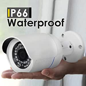 IPCC-B13N Caméra IP Enregistreur - H.264 HD 720P Megapixel ONVIF Sécurité CCTV Vision Nocturne Étanche P2P Audio