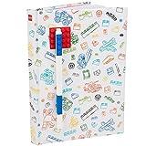 Lego 90320 - Notizbuch A5, liniert, mit einem Gel-Pen in blau, rot